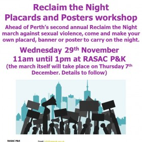 Reclaim the Night - Placards and Posters Workshop