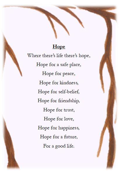 A poem about hope