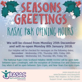 RASAC P&K Holiday Opening Hours