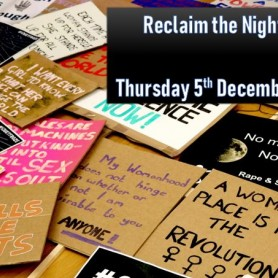 Save the Date - Reclaim the Night March Thursday 5th December from 5.30pm!